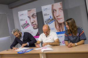 firma CPA y Real Zaragoza Club de Fútbol Femenino
