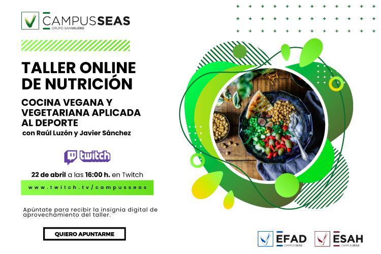 Taller online cocina vegana ESAH EFAD